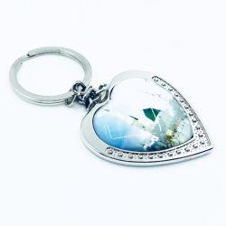 Promotion trousseau de clés personnalisé Métal 2D forme de coeur de la chaîne de clé du Cadre photo