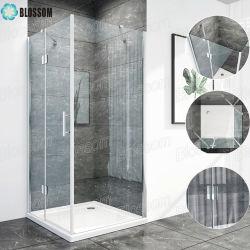 Dobragem de vidro temperado de dobradiça simples banho de chuveiro sem caixilho Box