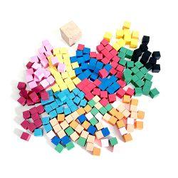 Mini cubo de madera juego de mesa piezas fabricadas en China