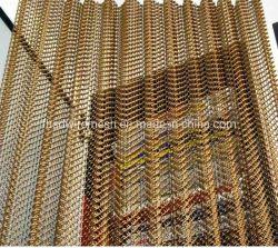 Todos los tipos de color aluminio recubierto de malla de alambre decorativo