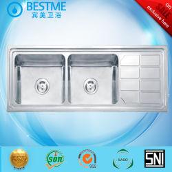 Sumidouros de aço inoxidável / lavatório em granito que exerçam a Rádio 15 Mercado irão BS-12050-4