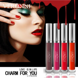 Veronni hohe Form c13 färbt Warterproof flüssige Lippenstift-Verfassungsmattkosmetik