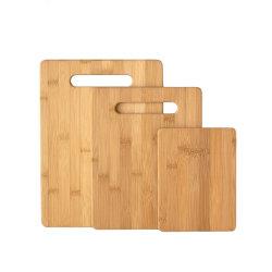 Maxluckの3の台所によって個人化されるまな板セット、タケまな板、環境に優しいまな板