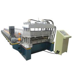 専門のカスタムカラー鋼鉄アルミニウムはステップタイルのための機械を形作るシート・メタルの屋根のPanellのタイルロールに電流を通した