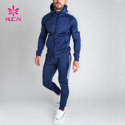 Groothandel OEM Training Sports Gym Jogger Leisure twee stukken Custom Polyester trainingspak voor heren