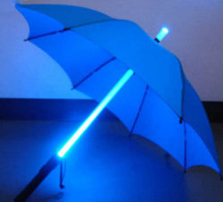 Lightsaber зонтик светодиодный индикатор на поле для гольфа зонтиками от солнца с смены цветов
