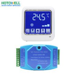 termostato spaccato della camera di albergo di Fcu Digital dello schermo di tocco 100~250VAC con Modbus