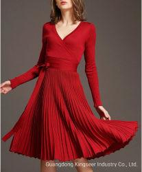 도매 2019 형식 디자인 편물 우연한 가을 겨울 의류 옷 착용 의복 여자 복장 숙녀 복장