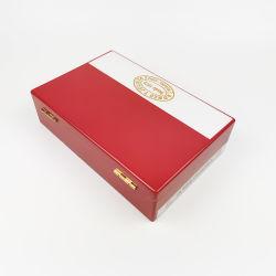 2020 새로운 디자인 단단한 나무 빨간 그려진 시가 박스
