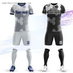 良質のブランド番号名前のカスタム速乾燥のサッカーの衣類