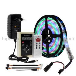 競馬ライト夢カラーRGB Runing可変性LEDストリップ5050 5m 150 LEDs + 133のプログラムRFコントローラ+アダプター