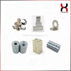 円形中国の常置ネオジムNdFeBかブロックまたはリングまたはアークまたはディスクまたはシリンダーまたはさら穴を開けられた磁石