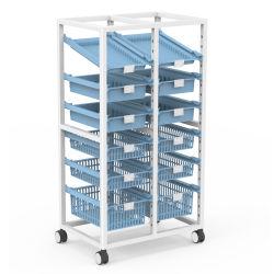 Estanterías metálicas modulares en acero inoxidable