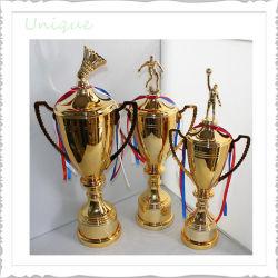 Mayorista de deporte personalizadas de metal de la copa de cristal el premio de la resina+/ Aleación de zinc de oro medalla de plata de la Escuela de Ajedrez trofeo para regalo promocional