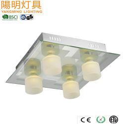 4-licht zet de Vierkante Vloed van het Plafond laatst Licht op/ontwerpt de LEIDENE van het Chroom Lamp van het Plafond