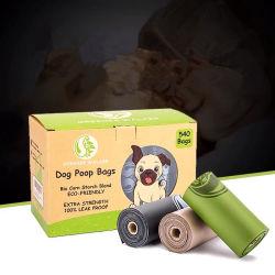 100%年のEcoの友好的な生物分解性およびCompostableプラスチック習慣は屋外の使用のための犬の船尾ペット無駄袋を印刷した