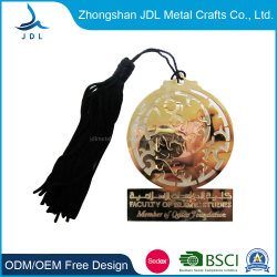 卸し売り大きさの設計注文の個人化されたホックの記念品の本ステンレス製ホログラムの銅の宗教亜鉛合金の金めっきエナメル金属の羽葉のしおり