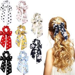 Boho-Stirnbänder für Frauen Scrunchie mit Schal