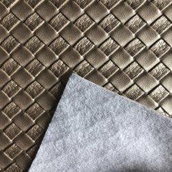 Cruz de cuero Bolsos de tela de PVC para bolsas de Dama y cinturones