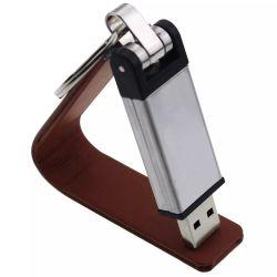 قرص معدني من الجلد U قرص USB مخصص من الجلد الأصلي USB