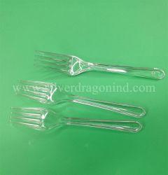 Высокого качества Clear прозрачный пластиковый PS вилочный захват одноразовые столовые приборы наборы