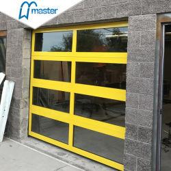 La Seguridad Industrial exterior de la seccional de vidrio automática de perfiles de aluminio Puertas de garaje