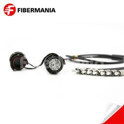 Piscina Campo tácticas de Fibra Óptica conectores à prova de militares de grau de protecção IP68