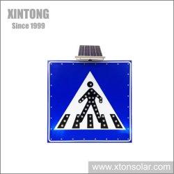 Quadratische Verkehrs-Geschwindigkeits-Zeichen-Pfosten-Stahlhintergrundbeleuchtung der Sonnenenergie-LED