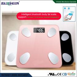 Непосредственно на заводе Wholesales Bluetooth органа жир шкалы 180кг Max,печать шелк белого платформы,розового цвета,черный для параметра или индивидуальные R30 стеклянной платформе Ce,RoHS,FCC