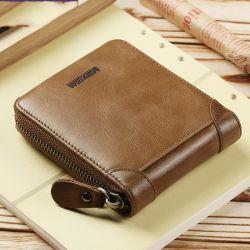 Мода мужская Vintage кожаный кошелек поездки запорное устройство карман для мелочи держатель карточки шикарный ретро короткое замыкание кошелек для мужчин