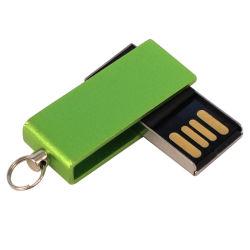 판촉용 마이크로 스위블 메탈 USB 점프 드라이브