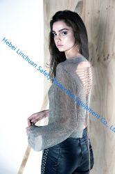 Chaîne en métal argenté Mail Fashion Show de chemise bikini Jupe Cosplay Set Soutien-gorge de la courroie