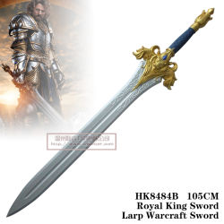 Königlicher König Sword Larp Warcraft Sword 105cm HK8484b