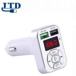 Manos Libres Bluetooth inalámbrica transmisor FM modulador Aux Kit de coche reproductor de MP3