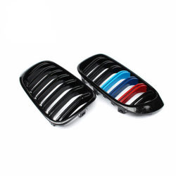 M colores de la guía de doble Fibra de carbono Grill para BMW F25 F26 X3 X4