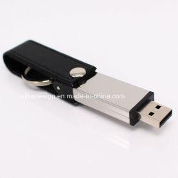 ذاكرة مخصصة من الجلد ذاكرة سعة 8 جيجابايت سعة 32 جيجابايت من قرص Stick USB برنامج تشغيل الفلاش
