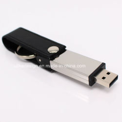 Memory Stick™ de plume en cuir personnalisé Disque du pilote USB à mémoire Flash