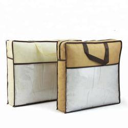 De niet Geweven Zak van het Dekbed van pvc Algemene Verpakkende, de In het groot Opnieuw te gebruiken Milieuvriendelijke Rekupereerbare Promotie het Winkelen van het Blad van het Bed van het Hoofdkussen Polypropy Zak van de Gift