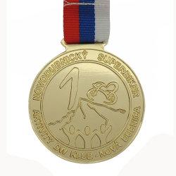 3색 랜야드(Three Colors Lanyards)가 있는 슈퍼바이크 대회 골드 실버 브론즈 메달