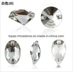 Ornamento de prendas de vestir el catálogo de planos de Vidrio Cristal volver a coser en piedra