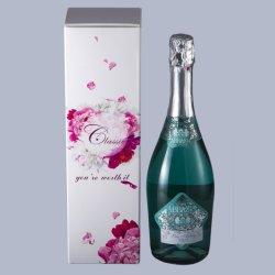 Fancy Folden personnalisé vin boîte cadeau d'emballage en carton