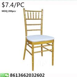 Bankett Chiavari moderner Metallhotel-Hochzeits-Tiffany-Stuhl, der Gaststätte speist