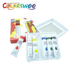 Pintura del color de agua del papel 12ml*6PCS