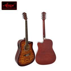 41 pulgadas de madera contrachapada de la parte superior acolchada Lindenwood Body Electric Guitarra acústica