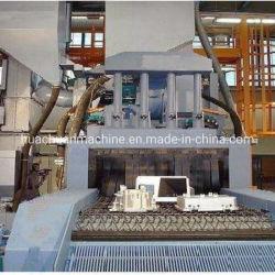 Liga de alumínio peça através de malha de arame tipo Granalhagem a máquina
