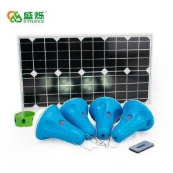 새로운 디자인 태양광 배터리 태양광 조명 키트 4 라이트 IP55 USB 충전기