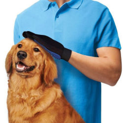 Het Schoonmaken van het huisdier het Verzorgen van de Hond van de Levering van de Hond van het Huisdier van de Handschoenen van de Borstel