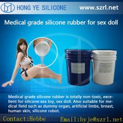 Gomma di silicone del grado medico RTV del prodotto del sesso del pene del silicone