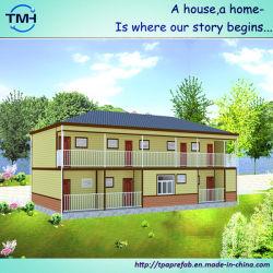 Двух этажное Эко модульный корпус из сборных конструкций для жилых помещений