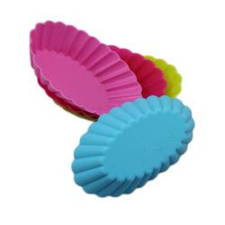 楕円形の形のシリコーンのカップケーキ型